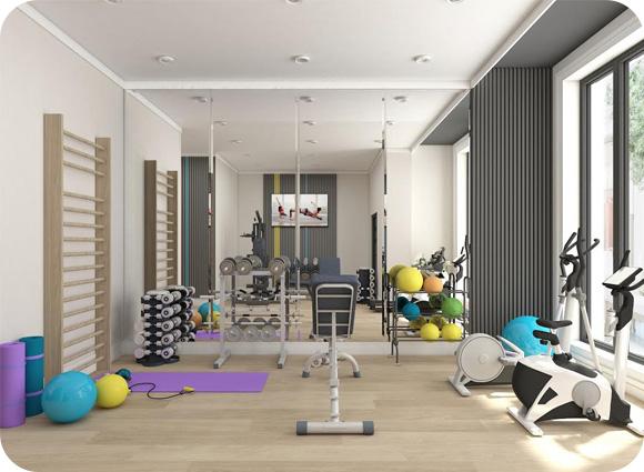 Siłownia fitness Art Deco