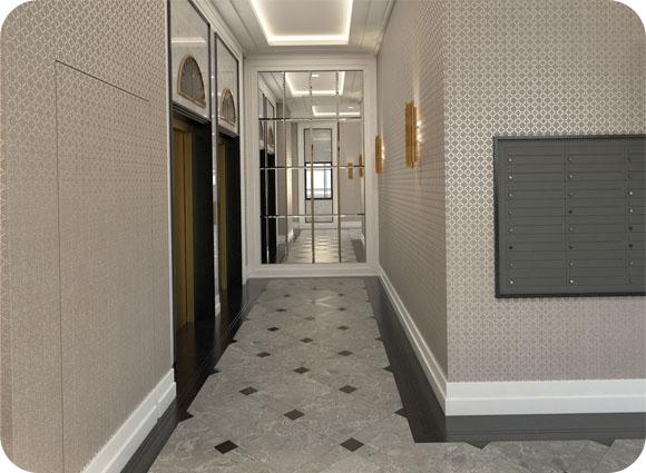 Hol hotelowy Art Deco