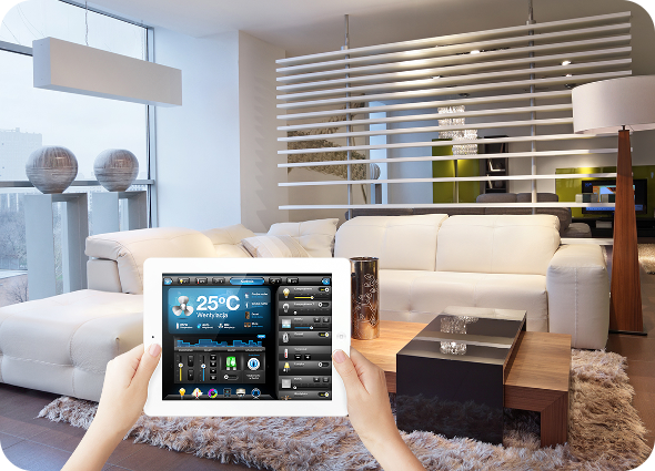 Smart home tablet salon