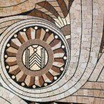 Mozaika z 24-karatowego złota